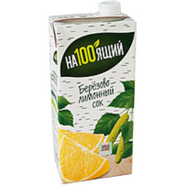 Birkensaft, gezuckert, mit Zitronensaftkonzentrat