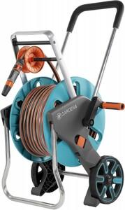Gardena Schlauchwagen AquaRoll M Easy Set inkl. 20 m Schlauch, Systemteilen und Spritze | B-Ware – der Artikel ist neu – Verpackung beschädigt – volle gesetzliche Gewährleistung