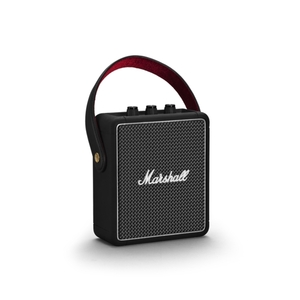 MarshallL Stockwell II (schwarz) - Bluetooth-Lautsprecher (20W RMS, Bluetooth 5.0, AUX-In, Akku, USB-Ladefunktion)