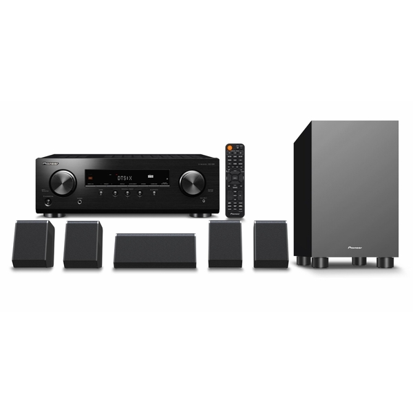 Pioneer HTP-076-B - 5.1-Kanal Heimkino-Set (schwarz) (150 Watt/Kanal, Dolby Atmos, DTS:X, UHD Pass-trough, HDR10, Bluetooth)