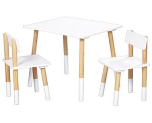 LIVING STYLE Kinder-Tischset mit 2 Stühlen
