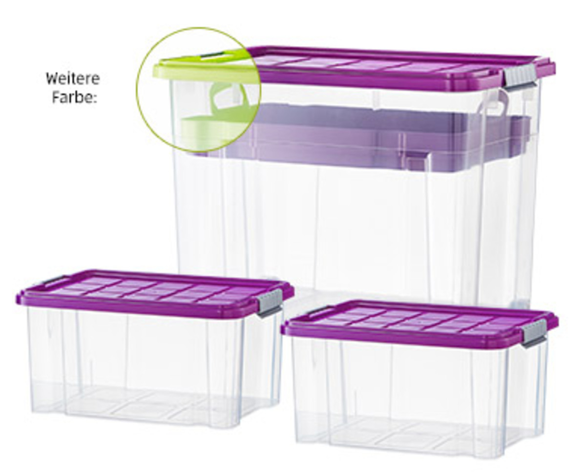 Bild 1 von EASY HOME®  Maxi-Stapelboxen-Set, 4-teilig