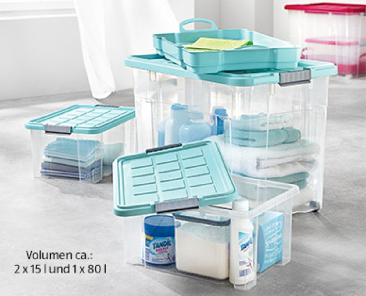 Bild 3 von EASY HOME®  Maxi-Stapelboxen-Set, 4-teilig