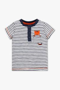Baby Club         Baby-Kurzarmshirt - gestreift
