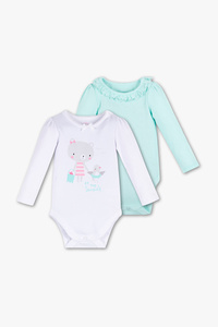 Baby Club         Baby-Body - Bio-Baumwolle - 2er Pack