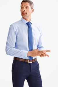 Canda         Businesshemd mit Krawatte - Regular Fit - Cutaway - gestreift