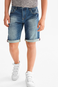 Here and There         THE BERMUDA JEANS - Jog Denim - extra-weiter Bund