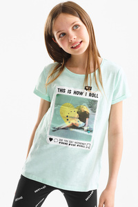 Here and There         Kurzarmshirt - Bio-Baumwolle