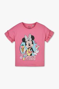 Minnie Maus - Kurzarmshirt - Bio-Baumwolle - Glanz Effekt