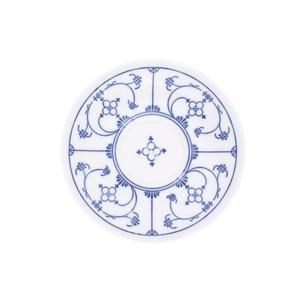 KAHLA Teller /Untertasse Ø 14 BLAU SACS Weiß mit blauem Dekor