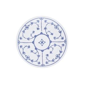 KAHLA Teller flach /Speiseteller Ø 23,5 cm BLAU SACS Weiß mit blauem Dekor