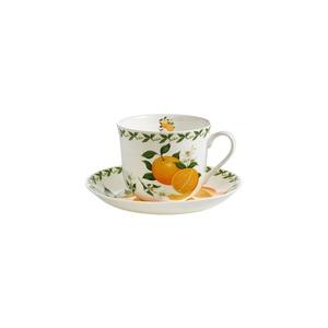 MAXWELL WILLIAMS Tasse mit Untertasse 450 ml ORCHARD FRUIT Orangen