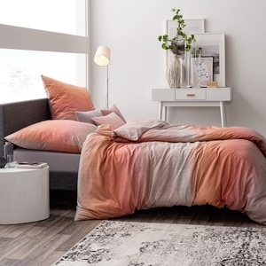ESTELLA Interlock-Jersey-Bettwäsche NICOLAS 135 x 200 cm in Orange