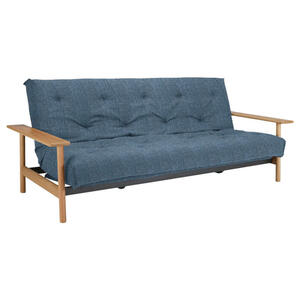 Innovation SCHLAFSOFA Webstoff Blau