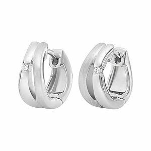 CHRIST Silver Diamonds Creole 87471438