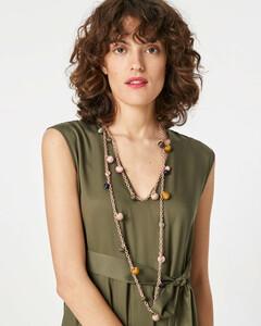 Halskette mit Pompons aus Satin