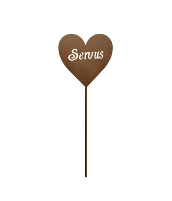 Dehner Metall-Stecker Herz 'Servus'