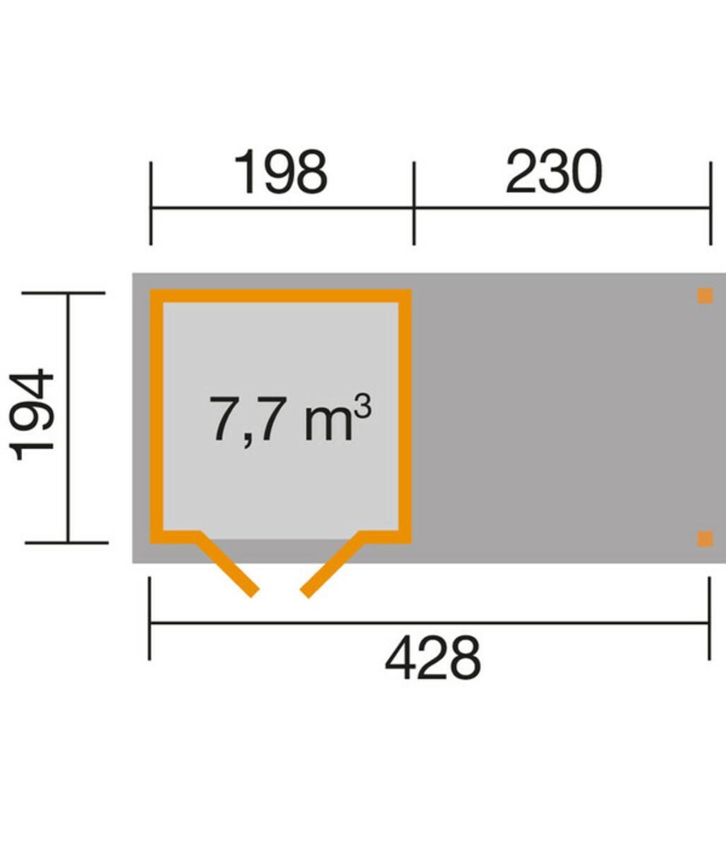 Bild 2 von Weka Gartenhaus 321 + 230 cm Anbau