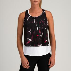 Top 3-in-1 FTA 520 Fitness Cardio Damen weiß mit Print