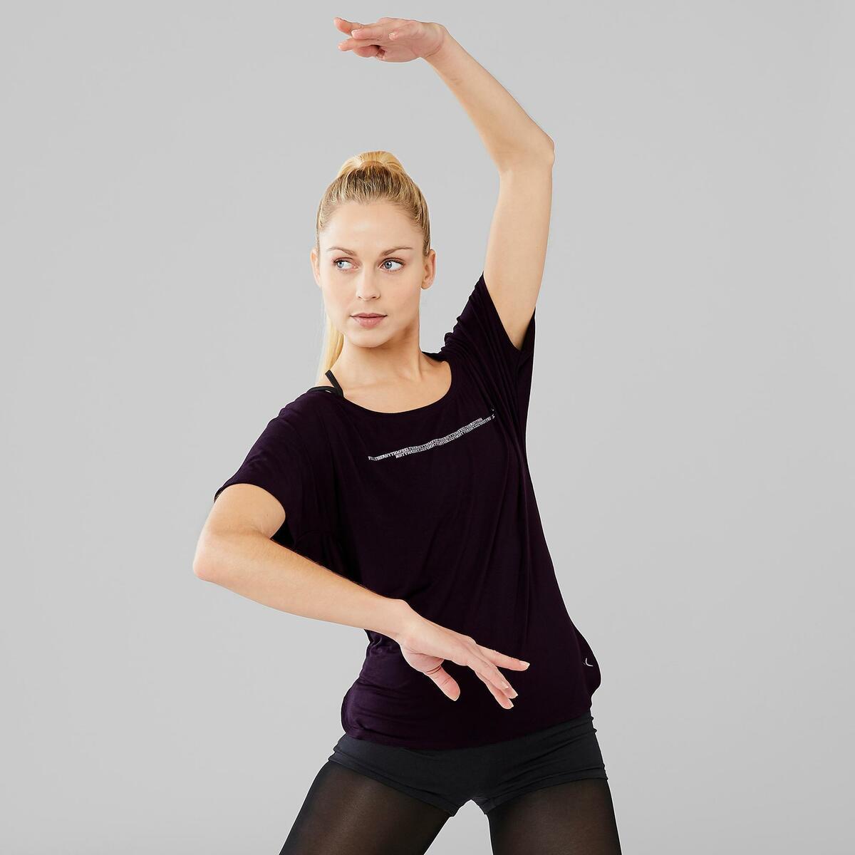 Bild 2 von Dance-Shirt kurz Modern Dance Damen schwarz