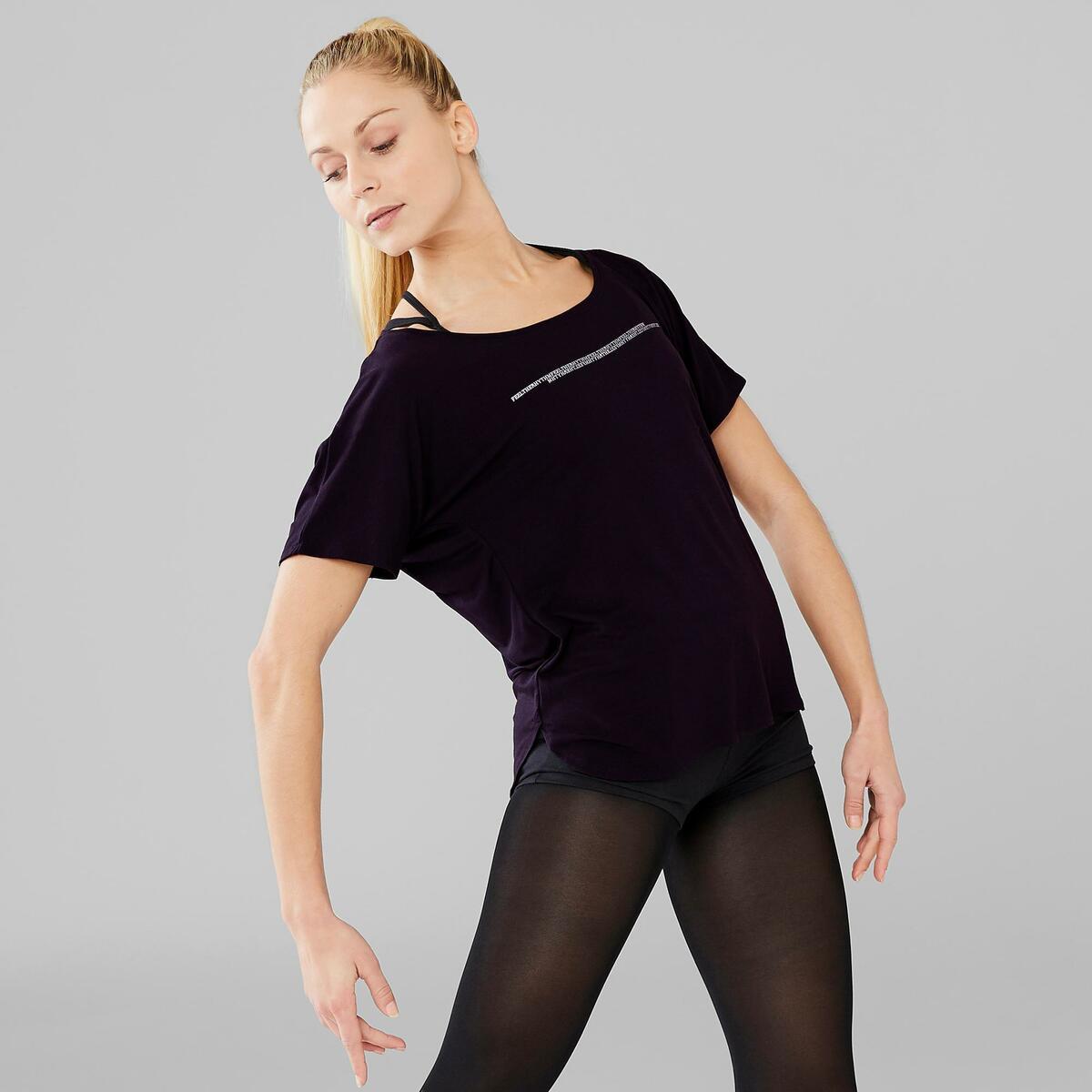 Bild 3 von Dance-Shirt kurz Modern Dance Damen schwarz