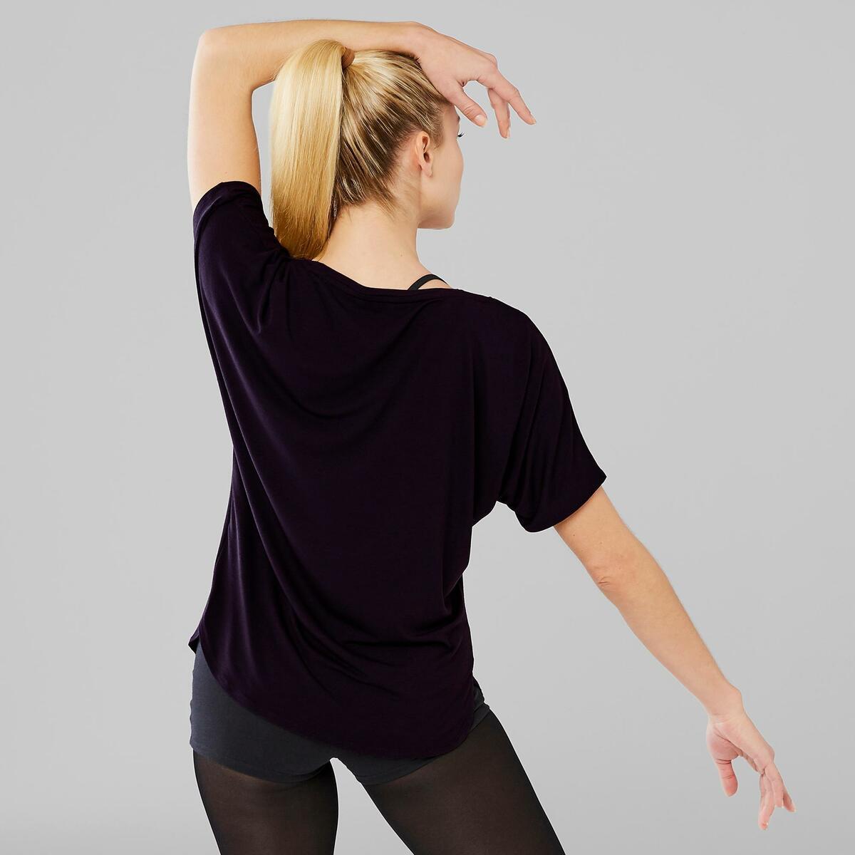 Bild 4 von Dance-Shirt kurz Modern Dance Damen schwarz