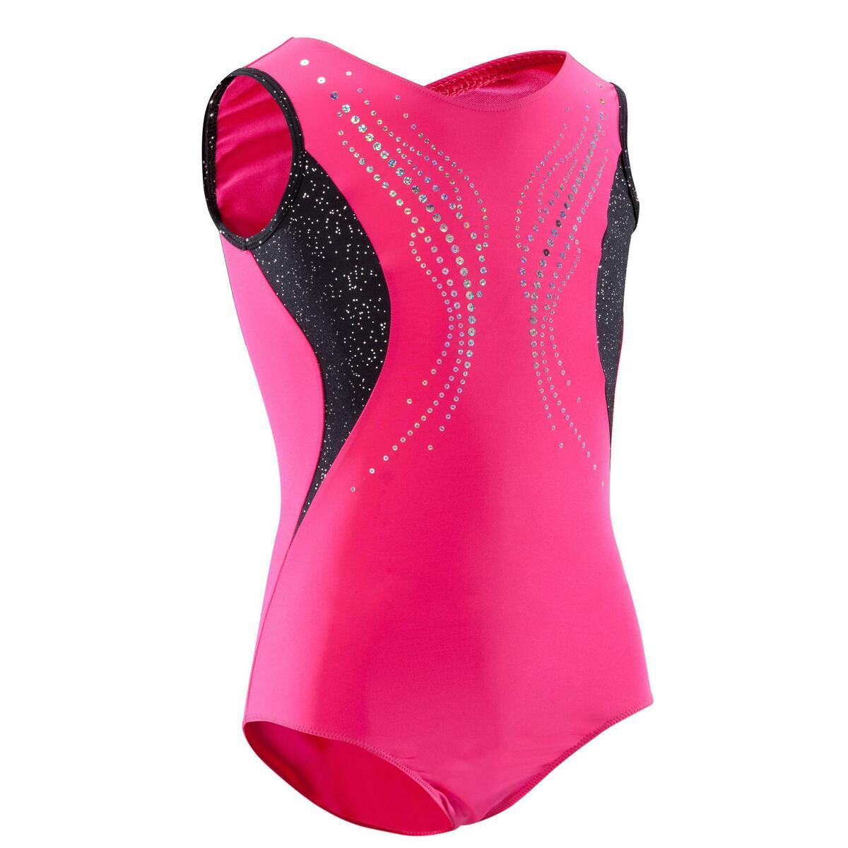 Bild 1 von Gymnastikanzug Turnanzug ärmellos Pailletten rosa