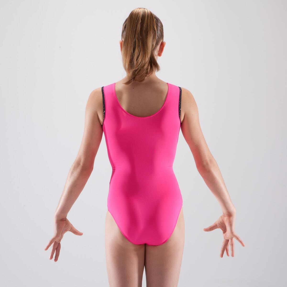 Bild 4 von Gymnastikanzug Turnanzug ärmellos Pailletten rosa