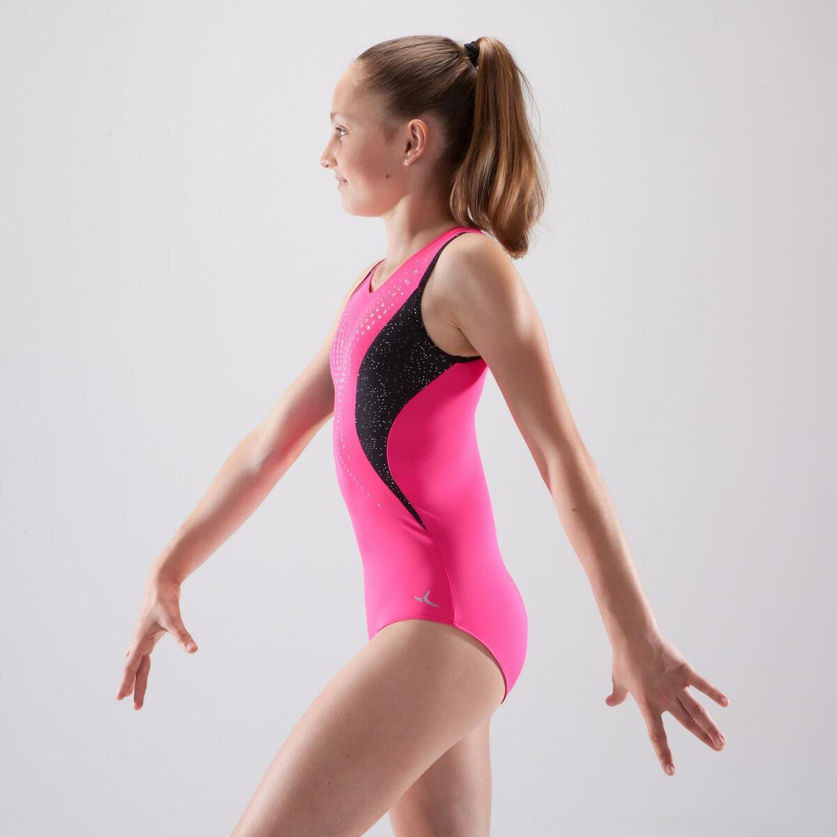 Bild 5 von Gymnastikanzug Turnanzug ärmellos Pailletten rosa