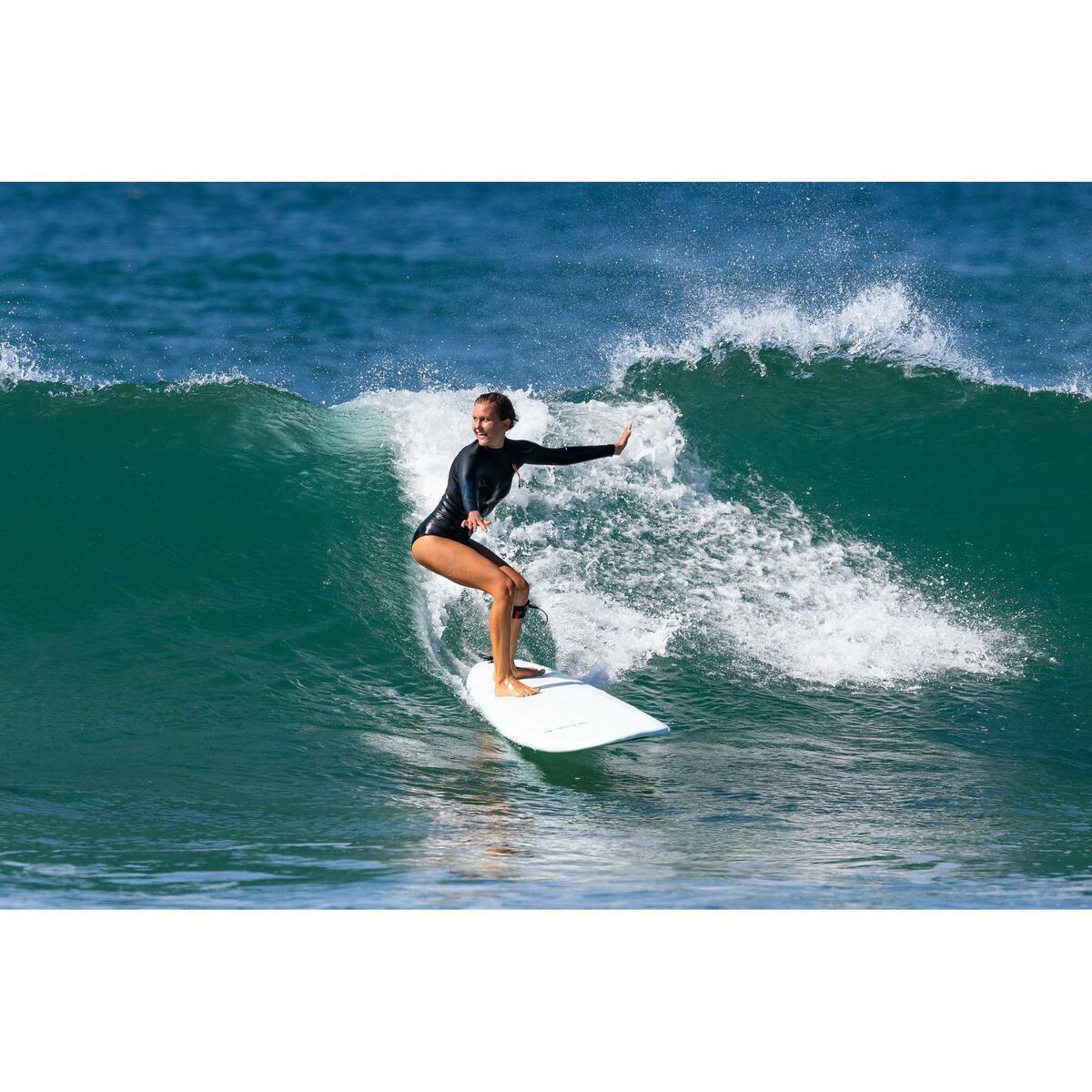 Bild 2 von Neoprenshorty Langarm Surfen 900LS ohne Reißverschluss Damen schwarz