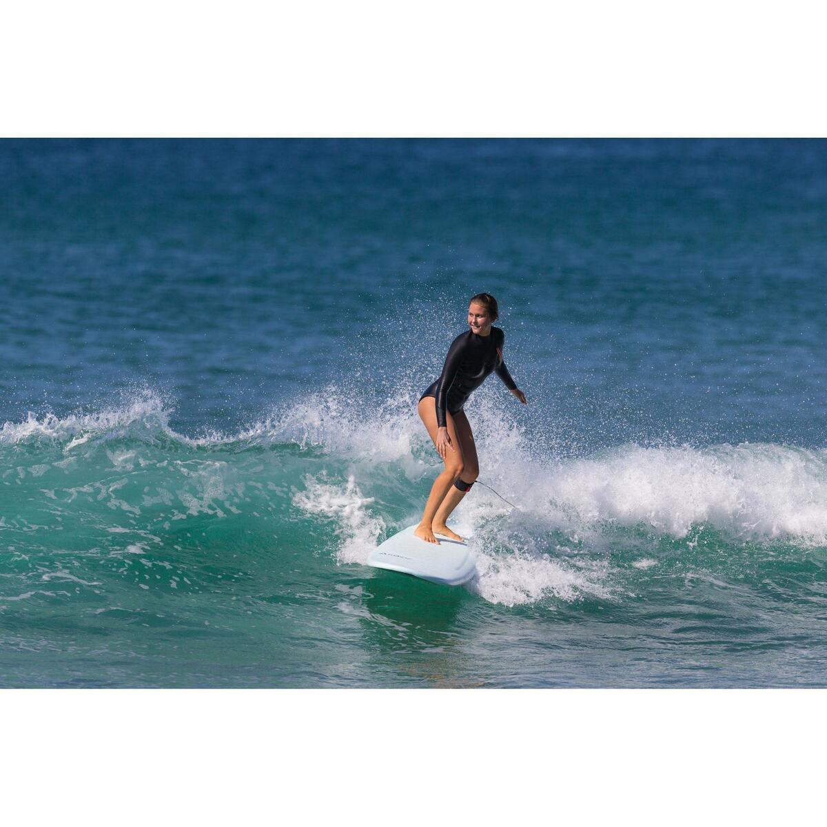 Bild 5 von Neoprenshorty Langarm Surfen 900LS ohne Reißverschluss Damen schwarz