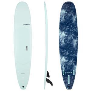 Surfboard 900 Schaumstoff Soft 9´ Longboard 100 l inkl. 2+1 Finnen