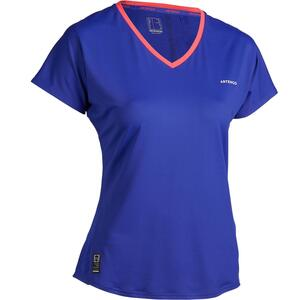 T-Shirt TS Soft 500 Tennisshirt Damen blau