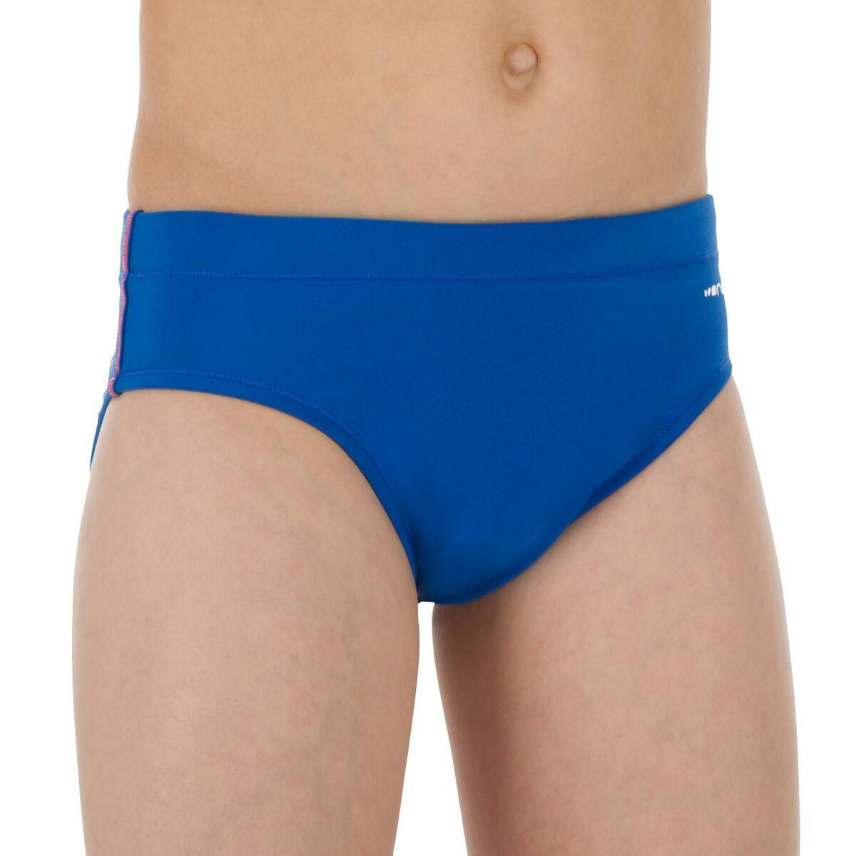 Bild 2 von Badehose Wasserball 500 Jungen Uni blau