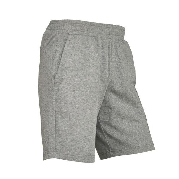 Sporthose kurz 100 Pilates sanfte Gymnastik Herren grau