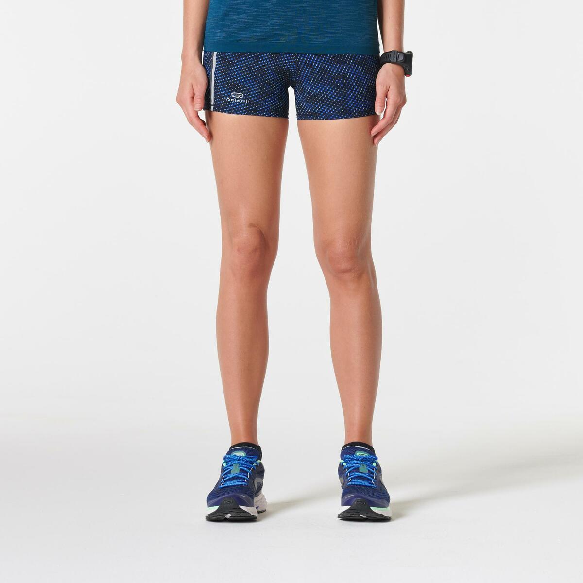 Bild 2 von Laufshorts Kiprun Damen Aufdruck/blau
