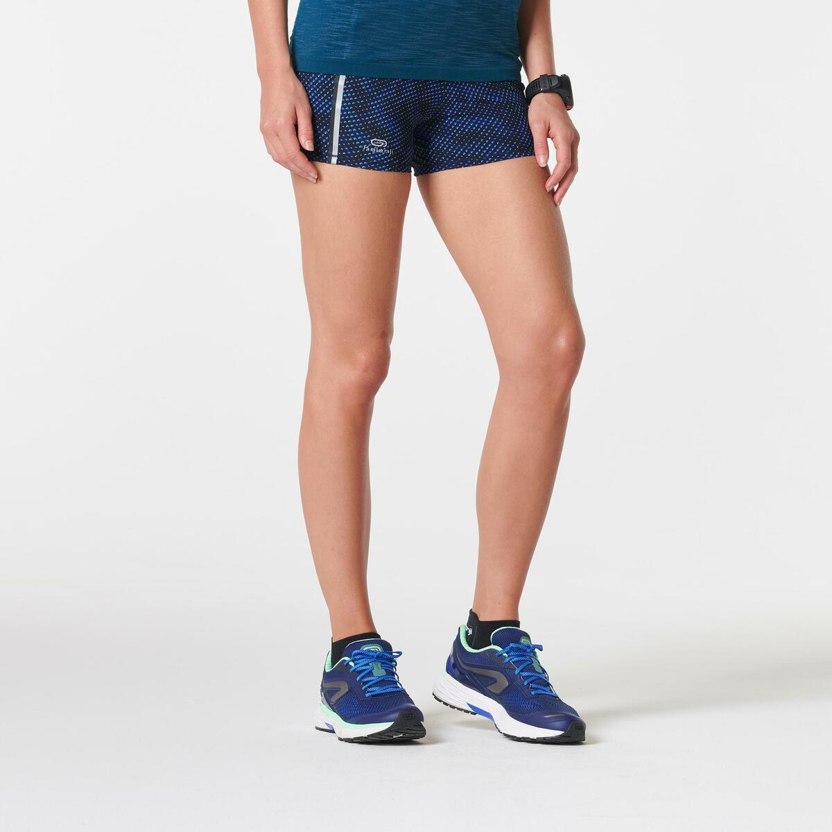 Bild 3 von Laufshorts Kiprun Damen Aufdruck/blau