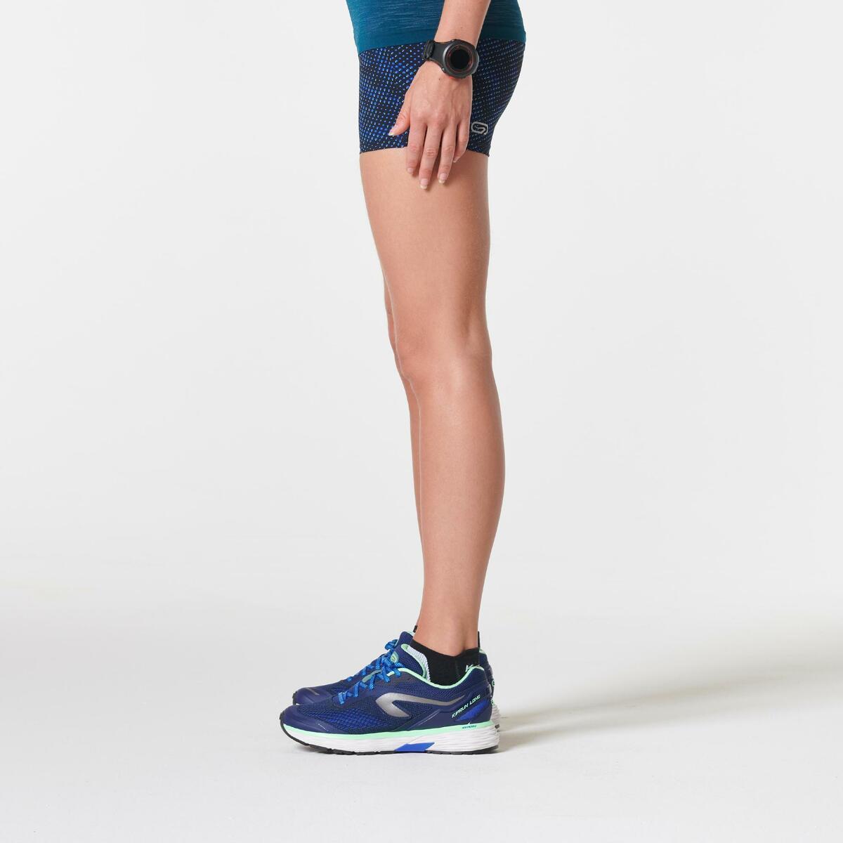 Bild 4 von Laufshorts Kiprun Damen Aufdruck/blau