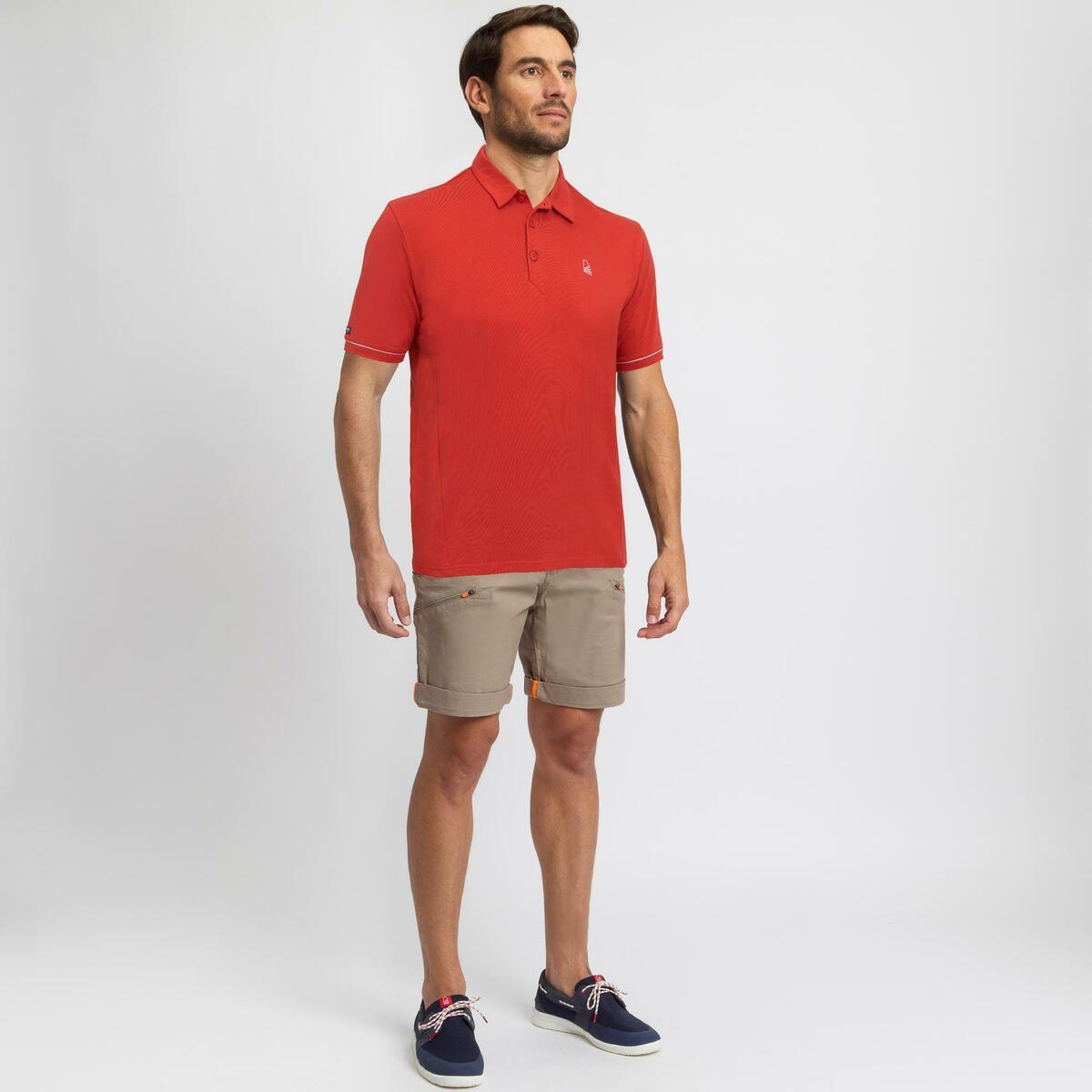 Bild 2 von Poloshirt Segeln kurzarm Sailing 100 Herren rot