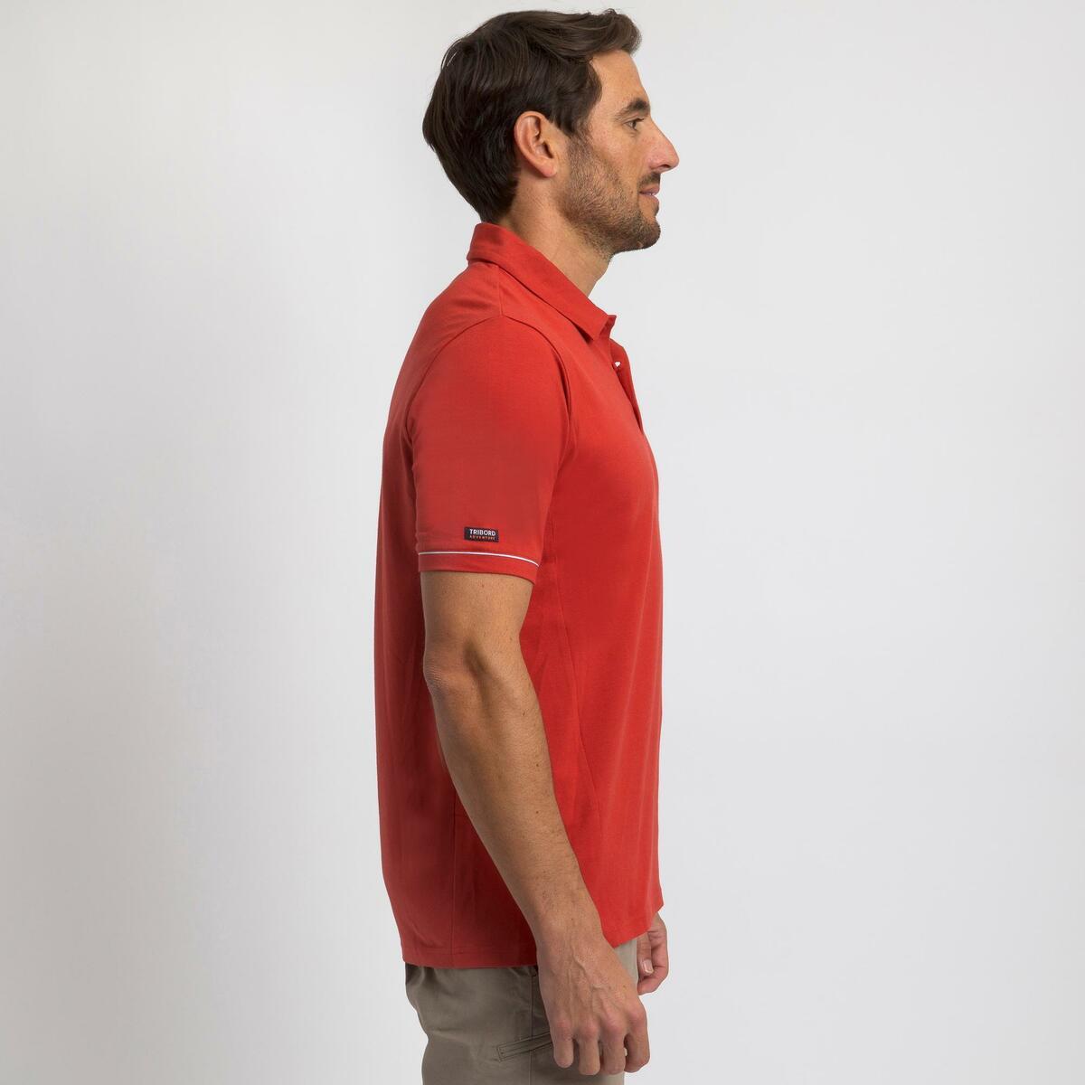 Bild 3 von Poloshirt Segeln kurzarm Sailing 100 Herren rot