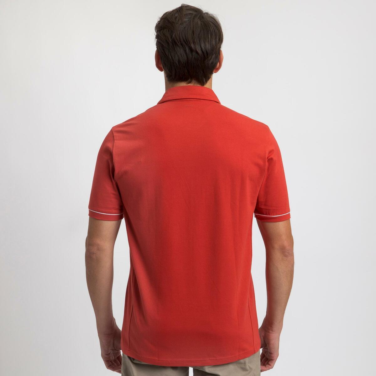 Bild 4 von Poloshirt Segeln kurzarm Sailing 100 Herren rot