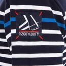 Bild 4 von Segelshirt langarm Sailing 100 Jungen blau gestreift