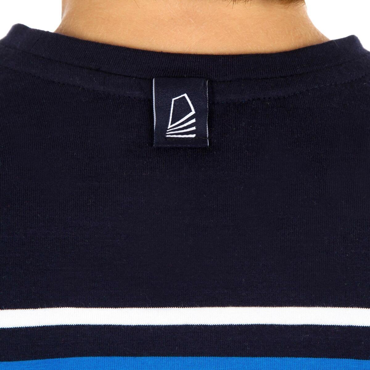 Bild 5 von Segelshirt langarm Sailing 100 Jungen blau gestreift
