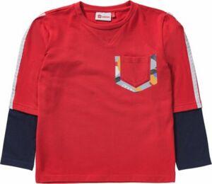 Langarmshirt rot Gr. 128 Jungen Kinder