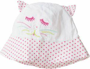 Hut zum Binden rosa/weiß Gr. 50 Mädchen Kleinkinder