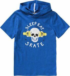 T-Shirt mit Kapuze blau Gr. 176 Jungen Kinder