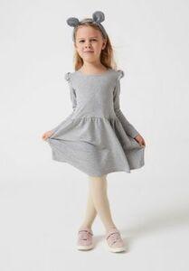 Sweatkleid grau Gr. 140 Mädchen Kinder
