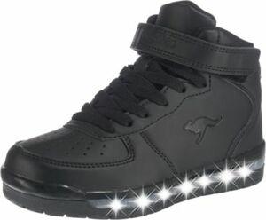Kinder Sneakers High K-LID Blinkies mit LED-Sohle schwarz Gr. 32