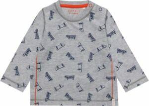 Baby Langarmshirt grau Gr. 74 Jungen Baby