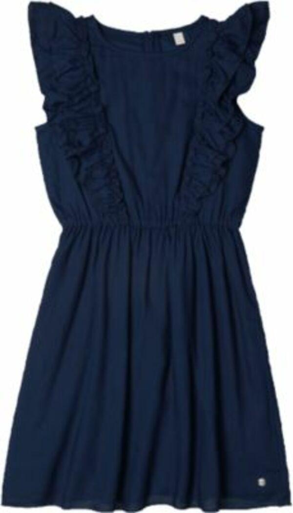 Kinder Kleid dunkelblau Gr. 164 Mädchen Kinder